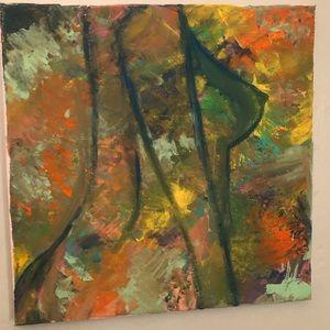 abstract art acrylic on canvas